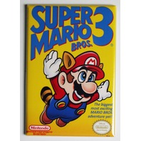 Nintendo Super Mario Bros 3 FRIDGE MAGNET Video Game Box Classic NES