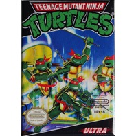 Nintendo Teenage Mutant Ninja Turtles TMNT FRIDGE MAGNET Video Game Box Classic NES