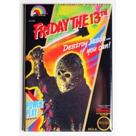 Nintendo Friday the 13th FRIDGE MAGNET Video Game Box Classic NES