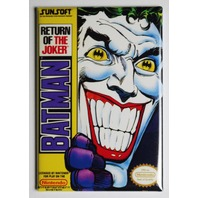 Nintendo DC Comics Batman Return of the Joker FRIDGE MAGNET Video Game Box Classic NES