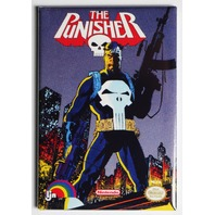 Nintendo DC Comics The Punisher FRIDGE MAGNET Video Game Box Classic NES