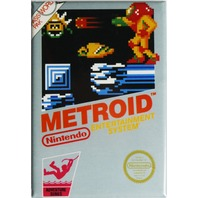 Nintendo Metroid FRIDGE MAGNET Video Game Box Classic NES