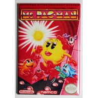 Nintendo Ms Pacman FRIDGE MAGNET Video Game Box Pac Man Classic NES