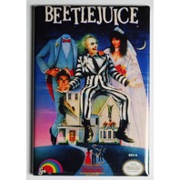 Nintendo Beetlejuice FRIDGE MAGNET Video Game Box Classic NES