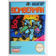 Nintendo Bomberman FRIDGE MAGNET Video Game Box Classic NES