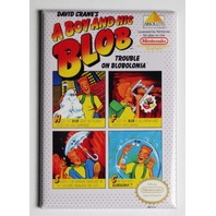 Nintendo A Boy and His Blob FRIDGE MAGNET Video Game Box Classic NES
