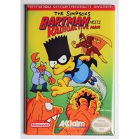 Nintendo The Simpsons Bartman Meets Radioactive Man FRIDGE MAGNET Video Game Box Classic NES
