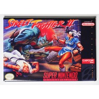 Super Nintendo SNES Street Fighter 2 FRIDGE MAGNET Video Game Box