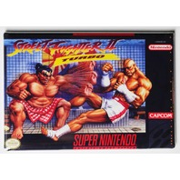 Super Nintendo SNES Street Fighter 2 Turbo FRIDGE MAGNET Video Game Box