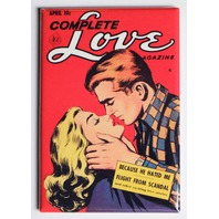 Complete Love Magazine Comic FRIDGE MAGNET Romantic Kiss