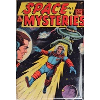 Space Mysteries No 1 Cover FRIDGE MAGNET UFO Flying Saucer 50s Comics