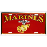US Marines Metal License Plate Military Veteran POW MIA United States