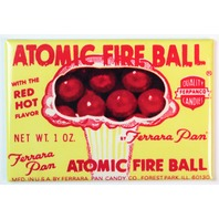 Ferrara Pan Atomic Fire Ball FRIDGE MAGNET Candy Box