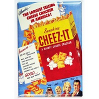 Sunshine Cheez-It Vintage AD FRIDGE MAGNET Kitchen Decor