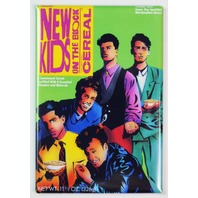 New Kids On The Block Cereal FRIDGE MAGNET NKOTB Kitchen Decor 1990s