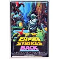 Star Wars The Empire Strikes Back NPR Poster FRIDGE MAGNET Yoda