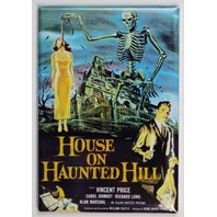 House on Haunted Hill Movie Poster FRIDGE MAGNET Horror Ghost Monsters