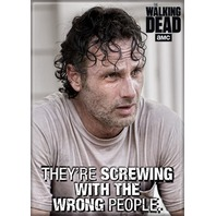The Walking Dead Rick Grimes FRIDGE MAGNET Quote Zombies Negan