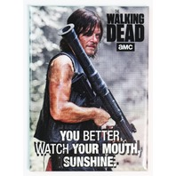 The Walking Dead Daryl Dixon FRIDGE MAGNET Watch Your Mouth Sunshine