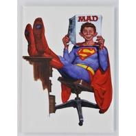 Mad Magazine Superman FRIDGE MAGNET DC Comics Justice League Clark Kent