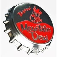 Mountain Dew Bottle Cap Premium Die Cut Tin Sign Pepsi Vintage Style