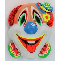 Vintage Clown Halloween Mask Zest Bars 60's 70's Black Light Reactive