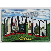 Greetings From Dayton Ohio Postcard FRIDGE MAGNET Wright Flyer UD