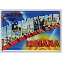 Greetings From Indianapolis Indiana Postcard FRIDGE MAGNET