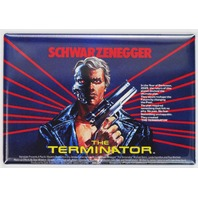 The Terminator British Movie Poster FRIDGE MAGNET Arnold Schwarzenegger Sci Fi