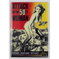 Attack of the 50 ft Woman Movie Poster FRIDGE MAGNET B Flim Sci Fi Vintage Style