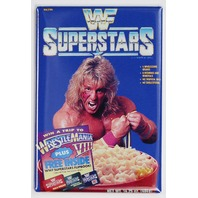 WWF Superstars Cereal Ultimate Warrior FRIDGE MAGNET Wrestling WWE Hulk Hogan
