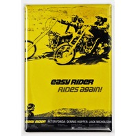 Easy Rider Rides Again Movie Poster FRIDGE MAGNET Fonda Hopper Motorcycle Bike Harley