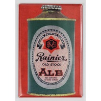 Rainier Brewing Cone Top Beer Can FRIDGE MAGNET Washington Ale