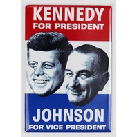 John F Kennedy For President 1960 Election FRIDGE MAGNET Campaign Poster JFK Johnson