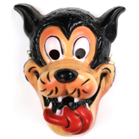 Walt Disney Big Bad Wolf Vintage Mask Cesar 1970's 80's Halloween Costume France