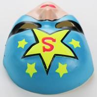Vintage Superhero Star Man Halloween Mask Super Hero 1960's