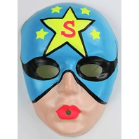 Vintage Superhero Star Man Halloween Mask Super Hero 1960's
