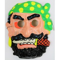 Vintage Pirate Halloween Mask Blackbeard 1960's Zest Mask Sailor Buccaneer