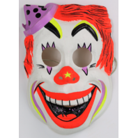 Vintage Clown Halloween Mask Circus Ben Cooper Costume IT Horror