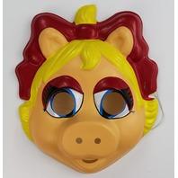 Vintage Miss Piggy The Muppets Halloween Mask Ben Cooper Henson Kermit