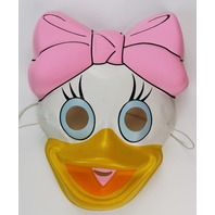 Vintage Walt Disney Webby Duck Halloween Mask Duck Tales Daisy Duck