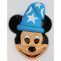 Vintage Walt Disney Mickey Mouse Fantasia Halloween Mask Ben Cooper Costumes Wizard