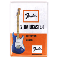 Vintage Fender Stratocaster Guitar Instruction Manual FRIDGE MAGNET Strat
