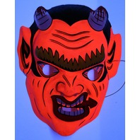 Vintage Devil Halloween Mask Demon Oni Hannya Monster Bloody Creepy Scary