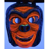 Vintage Ghoul Monster Halloween Mask Star Band 1960's