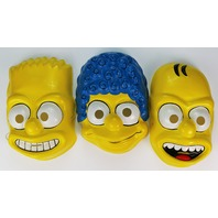 Vintage Ben Cooper The Simpsons Halloween Mask Set Marge Homer Bart Simpson 1989