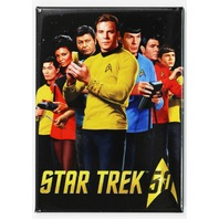 Star Trek FRIDGE MAGNET Captain Kirk Mr Spock 1960's Enterprise