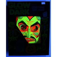 Vintage Collegeville Glow in the Dark Devil Halloween Mask and Costume Skull Monster Demon