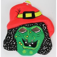 Vintage Wicked Witch Halloween Mask Fun World Monster 1970's 1980's