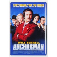 Anchor Man Movie Poster FRIDGE MAGNET Comedy Funny Will Ferrell